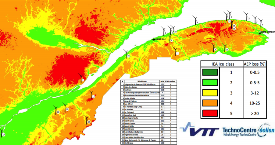 Preliminary ice map of Quebec, produced by VTT in collaboration with TCE