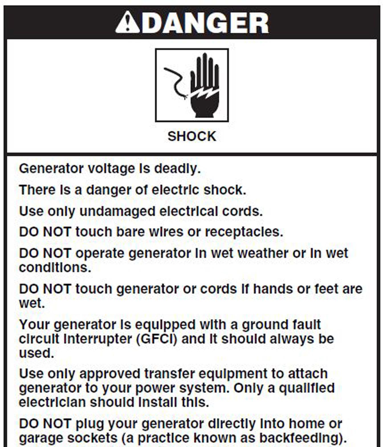 North American Clean Energy Portable Generator Usage