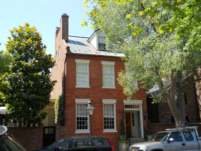 Image 1. The Hopper's 1830's Federal-style Old Town Alexandria home, with an efficient geothermal HVAC system installed