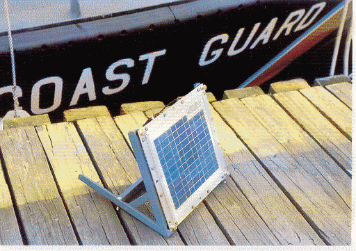 Image 1. Solarex solar module used by the US Coast Guard