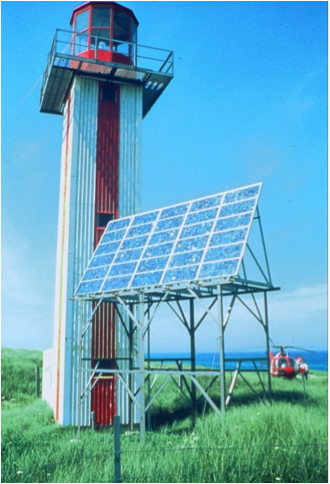 Image 2. Even in areas with little sunshine, solar power can work—Sabel Island, Nova Scotia, showcases a lighthouse operated by a 1.2 kW PV system